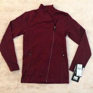 MPG Burgundy Yale Full Zip Moto Jacket